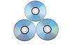Trzy płyty DVD | Stock Foto
