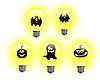 Photo 300 DPI: Halloween light bulbs