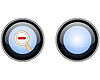 Vector clipart: button zoom out