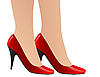 Vector clipart: red woman shoes
