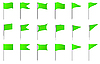 Vector clipart: Plastic flag pins