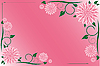 Vector clipart: Pink flower background