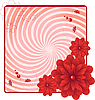 Vector clipart: red flower card