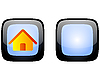 Vector clipart: Home web button