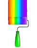 Vector clipart: rainbow painter roller