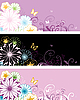 Vector clipart: floral banners