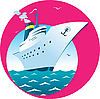 Vector clipart: Cruise ship