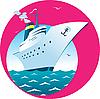 Vektor Cliparts: Kreuzfahrtschiffe
