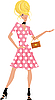 Vector clipart: beautiful girl