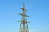 Electric transmission facilities | Stock Foto