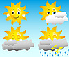 Vector clipart: sunny weather icons