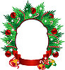 Vector clipart: Christmas wreath