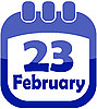 Vector clipart: calendar icon February 23