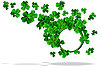 round frame to St Patrick`s Day