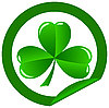 round sticker with shamrock