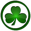 icon with shamrock in the circle