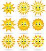 Векторный клипарт: Солнечный набор