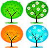 Vector clipart: seasonal trees