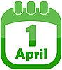 Vector clipart: Icon 1 April Calendar