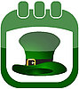 Vector clipart: icon St Patricks Day in calendar