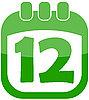 Vector clipart: icon Easter Calendar