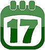 Vector clipart: icon of 17 in calendar