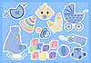 Vector clipart: baby boy items