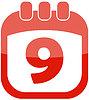 Vector clipart: Icon 9 calendar