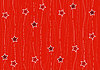 Vector clipart: seamless pattern with stars on red background