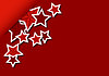 Vector clipart: Greeting card with stars