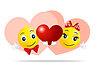 Vector clipart: love Smileys