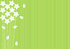 Vector clipart: abstract green background with flowers