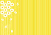 Vector clipart: abstract yellow background with daisies