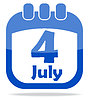 Vector clipart: Independence Day calendar icon