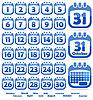 Векторный клипарт: календарь