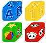 Vector clipart: cubes for kids