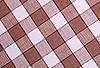 Фото 300 DPI: бело-коричневая ткань в клетку