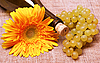 ID 3107565 | Wine bottle with flower and grapes branch | High resolution stock photo | CLIPARTO