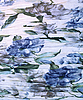 Photo 300 DPI: Water colour blue flower pattern on fabric