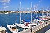 Greece. Dodecanese. Island Kos. Harbor | Stock Foto