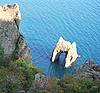 Ukraine. Crimea. Famous Golden Gate rock in Karadag park  | Stock Foto