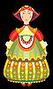 Vector clipart: girl doll in folk costume