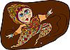 Vector clipart: dancing woman