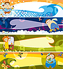 Vector clipart: set of cartoon banners for children