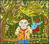 дети играют в лесу