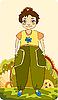 Vector clipart: girl on meadow