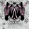 Vector clipart: Stylish cd cover with pink zebras