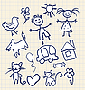 Vector clipart: Childrens Scribbles Notebook