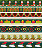 Vector clipart: Christmas Strip Pattern Set