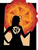 Vector clipart: Girl Silhouette